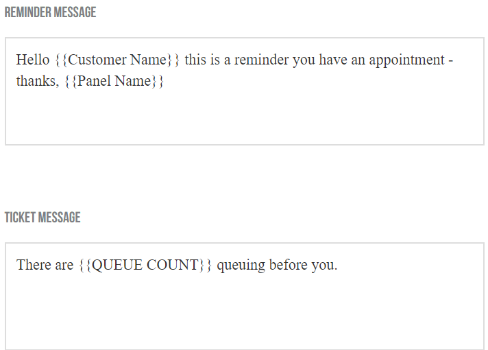 SMS waitlist reminders and queue notifications
