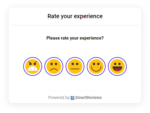 Feedback survey app screen